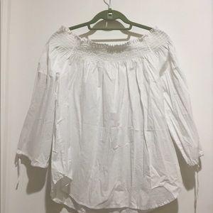 H&M white strapless top